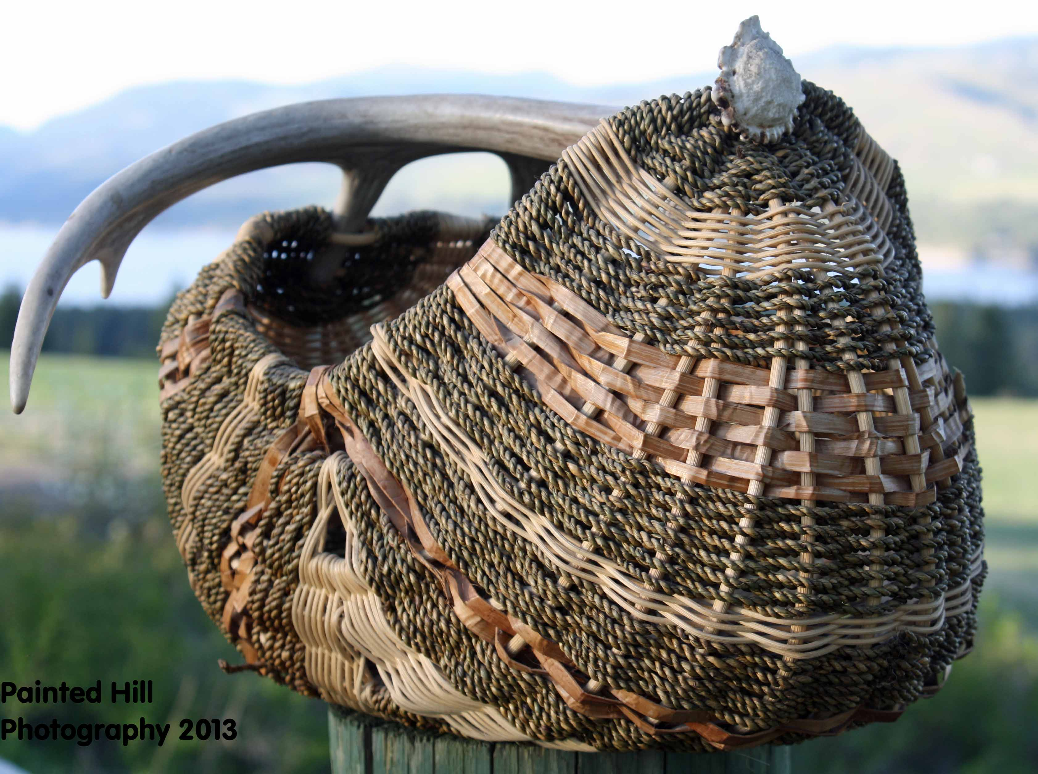 Traditional Basket Making : Speckled fish people traditional basket making carmen peone