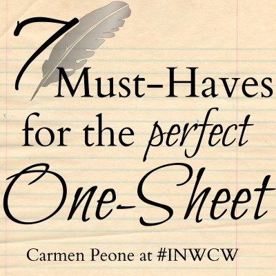 7 Must-Haves for the Perfect One-Sheet #authortips
