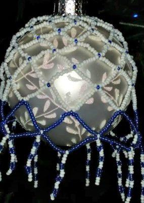 beaded ball ornament